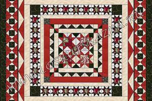 Дизайн одеяла-медальона