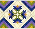Дизайн столовой лоскутной дорожки «Ирисы»