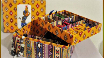 """Коробочка для украшений """"Африканское счастье"""""""