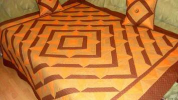 Комплект Лоскутное покрывало с подушками «Терамису»