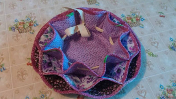 Лоскутная «Пасхальная тарелочка»