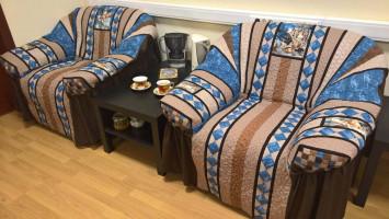 Лоскутные чехлы «Халатик для кресла»