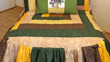 Лоскутный чехол «Жёлто-зелёный»