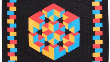 Лоскутное панно «Задача по геометрии»
