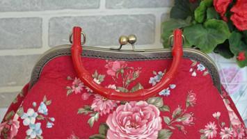 Лоскутная сумка «Красная роза»