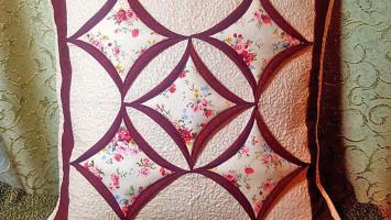 Декоративная подушка «Роза Прованс»