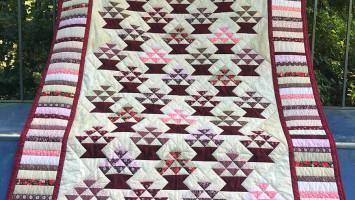 Лоскутное одеяло «Цветочные корзинки»