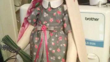 "Текстильная кукла ""Зайка"""