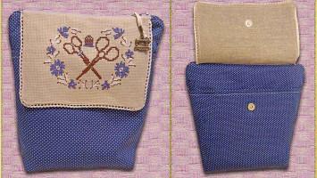 Сумочка для рукоделия с подвеской