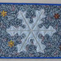 Текстильная открытка «Снежинка»