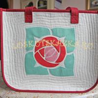 Мастер-класс сумка с аппликацией «Роза»