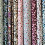 Китайские ткани Цвет бежевый, синий