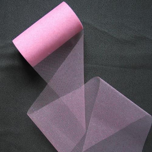 Фатин, розовый с блёстками, 15 см, FAT-B-001