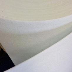 Фетр синтетический, жесткий, белый, толщина 3 мм, 50х100см