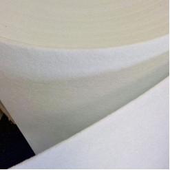 Фетр синтетический, жесткий, белый, толщина 3 мм, 100х50см