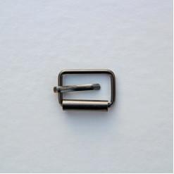 Пряжка 25х15мм, цвет тёмный никель, (упак. 1 шт.)