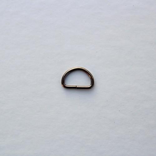 Полукольцо металлическое 12мм, цвет тёмный никель, (упак. 1 шт.)