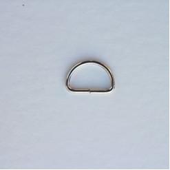 Полукольцо металлическое 20мм, цвет никель, (упак. 1 шт.)