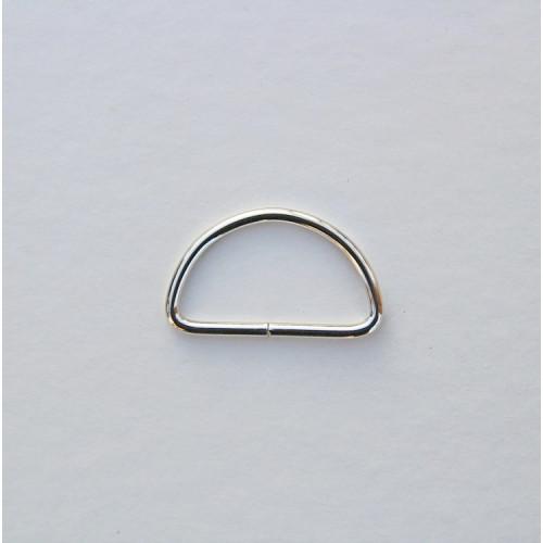 Полукольцо металлическое 32мм, цвет никель, (упак. 1 шт.)