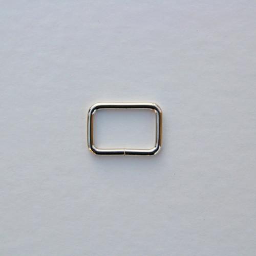 Рамка металлическая 20x13мм, цвет никель (упак. 1 шт.)