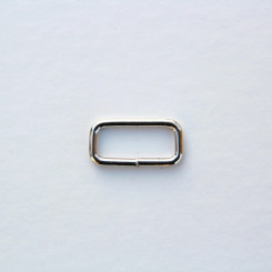 Рамка металлическая 25x10мм, цвет никель (упак. 1 шт.)