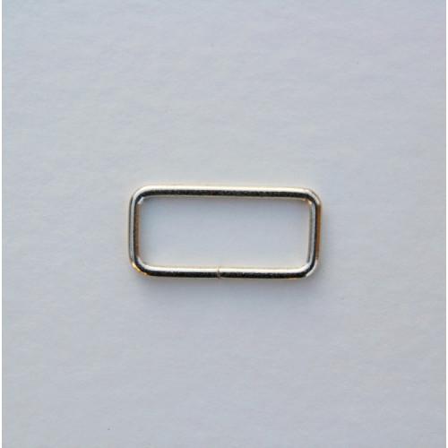 Рамка металлическая 38x15мм, цвет никель (упак. 1 шт.)