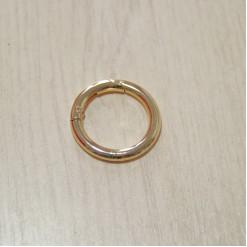 Карабин-кольцо для сумок, ⌀ 25мм, 4.2мм, золото