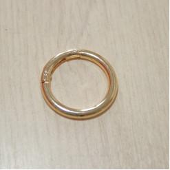 Карабин-кольцо для сумок, ⌀ 32мм, 5мм, золото