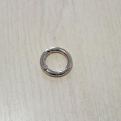 Карабин-кольцо для сумок, ⌀ 16мм, 3.8мм, никель