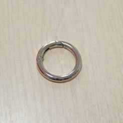 Карабин-кольцо для сумок, ⌀ 25мм, 4.2мм, никель