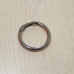 Карабин-кольцо для сумок, ⌀ 32мм, 5мм, тёмный никель