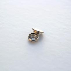 Кнопка металлическая 15мм, цвет никель, (упак. 1 шт.)