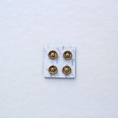 Кнопка пришивная 7,5мм на картоне, цвет золото, (упак. 4 шт.)