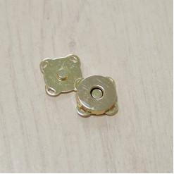 Кнопка магнитная пришивная, 15х15мм, золото