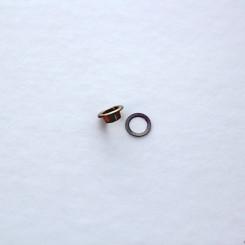 Люверсы 6мм, цвет тёмный никель (упак. 10 шт.)