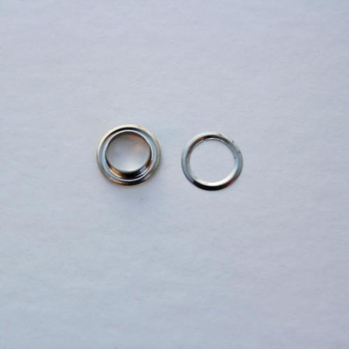 Люверсы 9,5 мм, цвет никель (упак. 5 шт.)