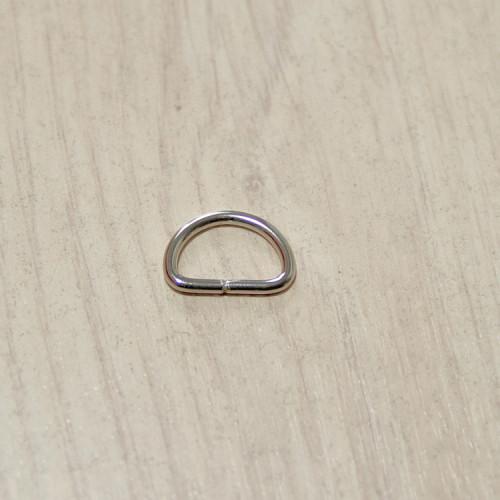 Полукольцо металлическое, 13х8х1.8мм, никель