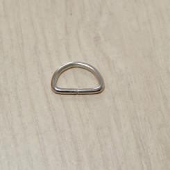Полукольцо металлическое, 15х10х2мм, никель, упак. 10шт