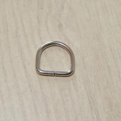Полукольцо металлическое, 15х15х2.5мм, никель, упак. 10шт