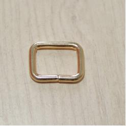 Рамка металлическая, 20х15х3.5мм, золото