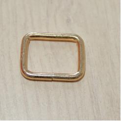 Рамка металлическая, 25х20х3.8мм, золото