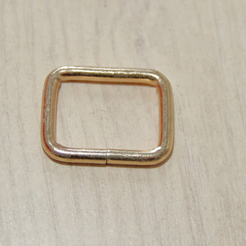 Рамка металлическая, 25х20х3.8мм, золото, упак. 5шт