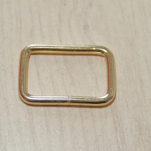 Рамка металлическая, 32х20х3.8мм, золото