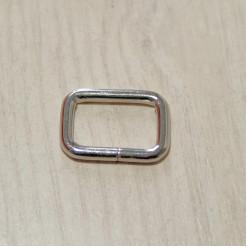 Рамка металлическая, 20х13х3.5мм, никель