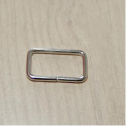 Рамка металлическая, 25х13х2.5мм, никель