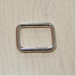 Рамка металлическая, 25х20х3.8мм, никель