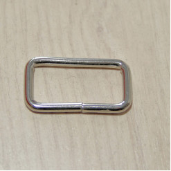 Рамка металлическая, 32х15х3.5мм, никель