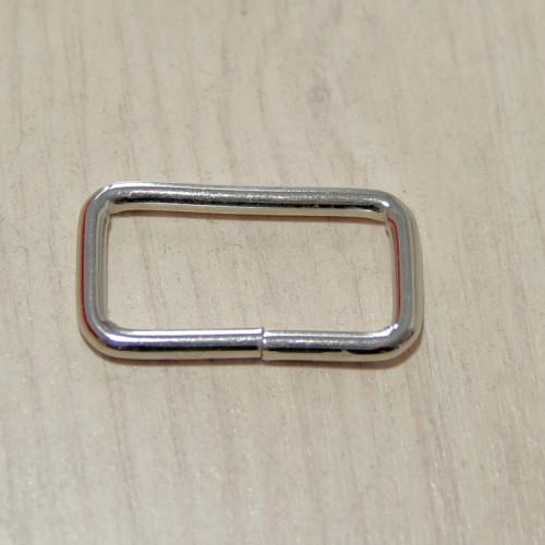 Рамка металлическая, 32х15х3.5мм, никель, упак. 5шт