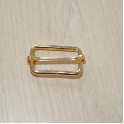 Рамка-регулятор металлическая, 32х18х3.5мм, золото
