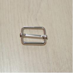 Рамка-регулятор металлическая, 25х20х3мм, никель